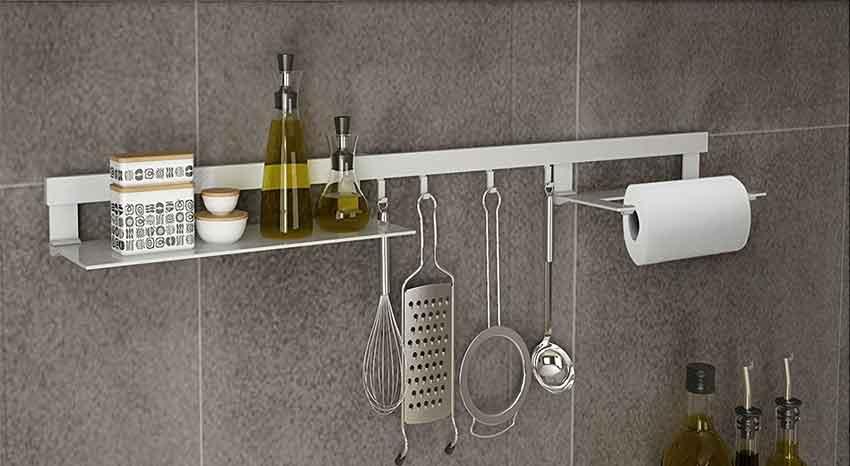 Binario cucina portaoggetti utensili e accessori a for Accessori in cucina