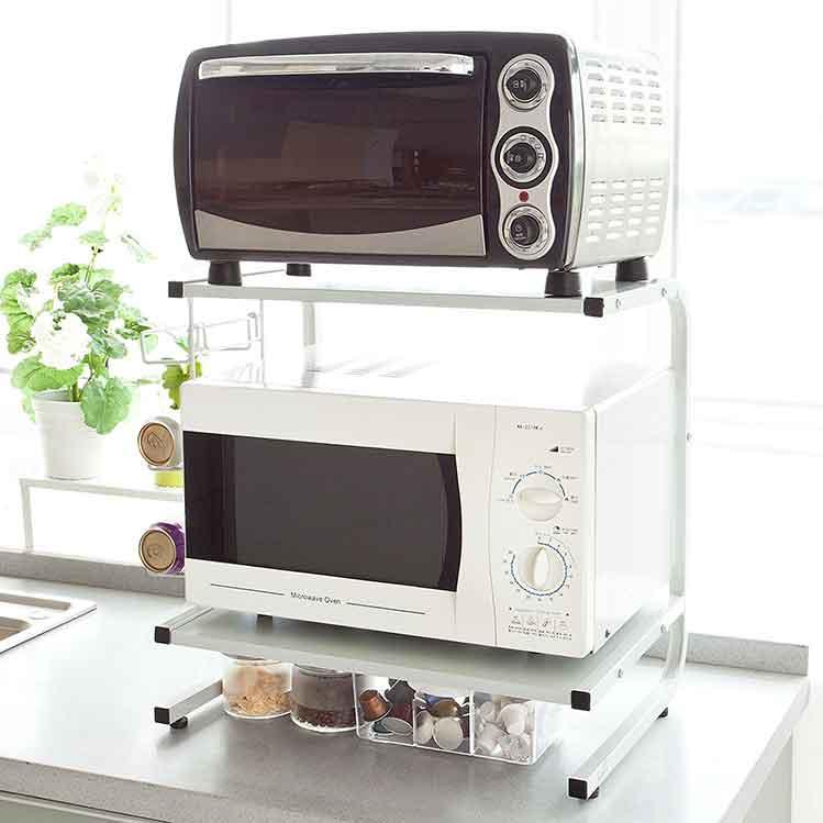Mensola per microonde a staffe per salvare spazio in cucina - Mobile porta forno microonde ...