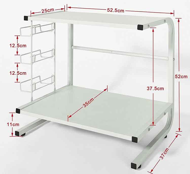 mensola per microonde a staffe per salvare spazio in cucina. Black Bedroom Furniture Sets. Home Design Ideas